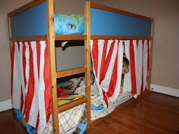 Curtains For Bunk Bed Convert Two Equal Beds Bunk Bed Curtains U2014 Mygreenatl Bunk Beds