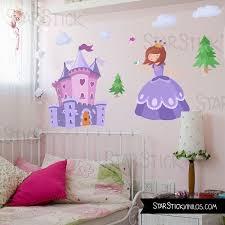 tickers chambre fille princesse sticker enfant fille princesse et château