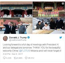 trump china visit us leader strikes warmer tone with xi jinping