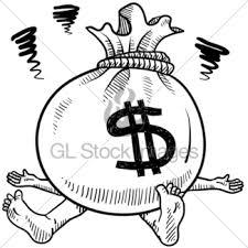 money flies away sketch gl stock images
