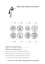 ks1 maths numeracy harry potter number and money ppt worksheets