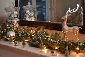 silver table top christmas decorations decorating ideas handmade