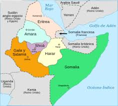 mapa de africa organización territorial áfrica italiana