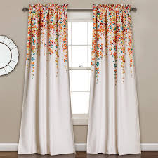 half moon weeping flowers 2 piece curtain panel set from