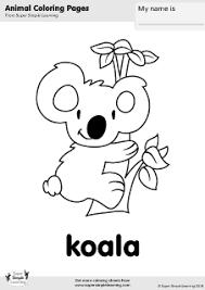 free koala coloring super simple learning tons free
