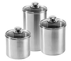 stainless kitchen canisters amco stainless steel canister set 3 cutlery and more