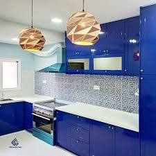 electric blue kitchen cabinets wood grain kitchen cabinets homify