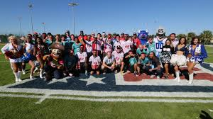 Pro Bowl Orlando by Pro Bowl Players Coach Special Olympics Athletes During Football