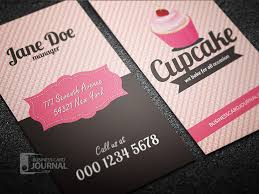 modern psd free cupcake business card template designed in retro