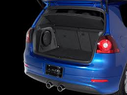 volkswagen gti blue sb vw gti 10tw3 car audio stealthbox volkswagen jl audio