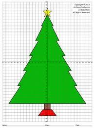 christmas tree four quadrants coordinate drawing u0026 graphing