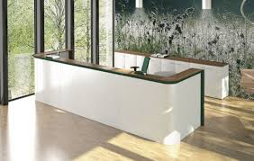 Ikea Reception Desk Glass Wall Design With Decorative Wallpaper Using White