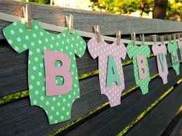 baby shower paper baby shower garland with paper clothes founterior