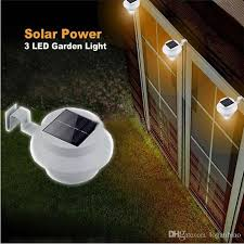 Outdoor Solar Lights For Fence Outdoor Solar Powered 3 Led Light Fence Roof Gutter Garden Yard