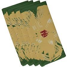 beige green e by design n4onr8emperor polyester napkin floral 19 x 19 beige