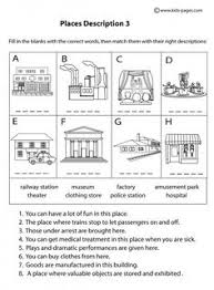 place descriptions 2 b u0026w worksheets places spl pinterest
