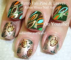 fall nail art tutorials diy thanksgiving pine cones u0026 abstract