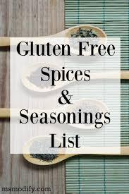 gluten free spices seasonings list msmodify