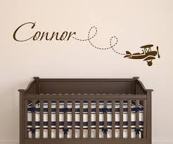 Custom Nursery Wall Decals Aliexpress Buy Nursery Wall Decal Ethan With Airplanes Name