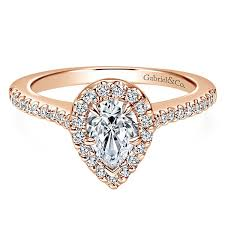 diamond shaped rings images Paige 14k rose gold pear shape halo engagement ring er5828k44jj jpg