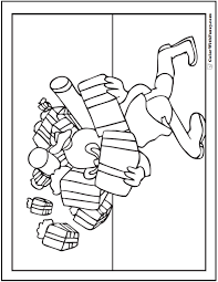 christmas elf coloring pages gifts packages