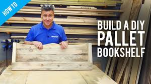 Best Wood To Build A Bookcase How To Build A Diy Pallet Bookshelf Youtube