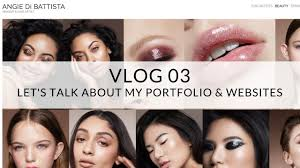 makeup artists websites vlog 03 let s talk about my portfolio and websites