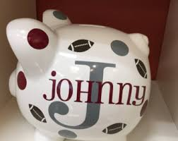 customized piggy bank ceramic piggy bank etsy