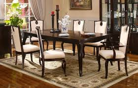 elegant formal dining room classic modern white leather fabric