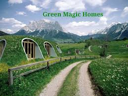 green magic homes are whimsical hobbit houses