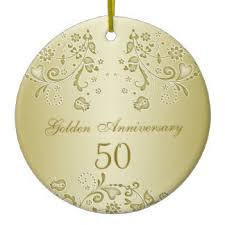 50th anniversary ornaments golden anniversary christmas tree decorations ornaments zazzle co uk