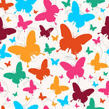 butterfly pattern vector illustration cienpies design