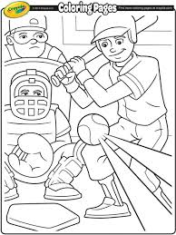 Baseball Coloring Page Crayola Com Jackie Robinson Coloring Page
