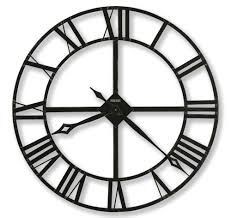 splendid large roman big vintage black skeleton wall clock modern