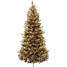 national tree company 7 1 2 ft glittery pine hinged artificial
