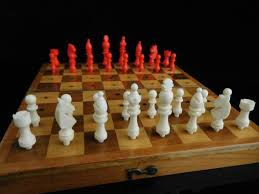 table game collectible vintage staunton travel chess game