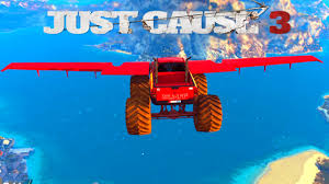monster trucks videos on youtube just cause 3 mods flying monster truck mod awesome just cause