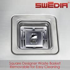 Stainless Steel Kitchen Sink Mm Thick   Bowl Swediacoma - Square kitchen sink