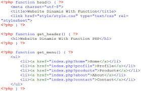 cara membuat halaman utama web dengan php membuat website dinamis menggunakan function