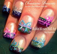 nail art xmas nail art designs diy christmas bow nails tutorial