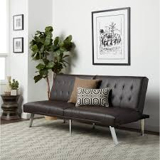 Overstock Sofa Bed Abbyson Jackson Brown Leather Foldable Futon Sofa Bed Free