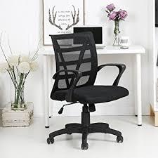 amazon com langria mid back mesh swivel chair home office