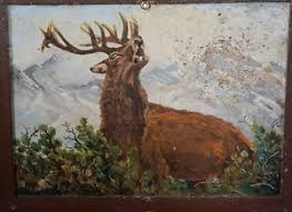 antique black forest wood carving jewelry box painting