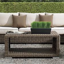 wicker outdoor sofa wicker coffee table hampton collection thos baker