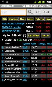 android stock price stock quote for android free and software reviews