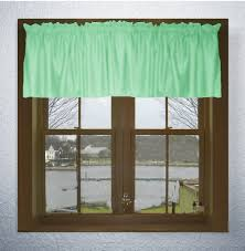 Solid Color Curtains Solid Mint Green Color Valance In Many Lengths Custom Size