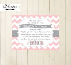 bring a book instead of a card baby shower baby shower book insert bring a book card printable bring a book