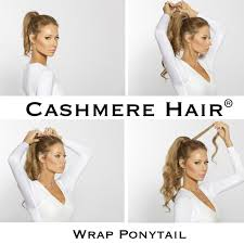Pony Wrap Hair Extension by Real Hair Ponytail U2013 Cashmere Hair Clip In Extensions