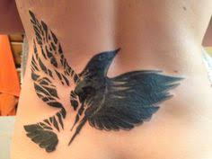 dead tree bird wing cover up inspired