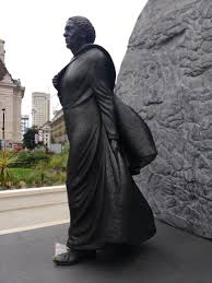 what side does a st go on file mary seacole statue st thomas hospital side view left